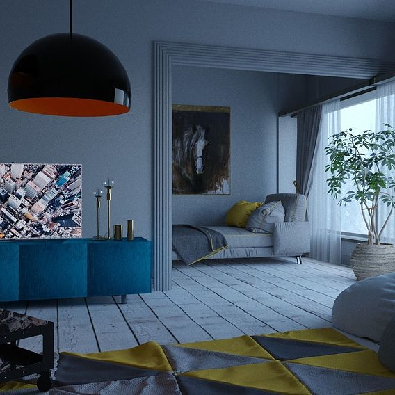 Mountain living room