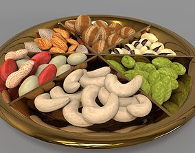 Dry fruits gift pack 3D Model