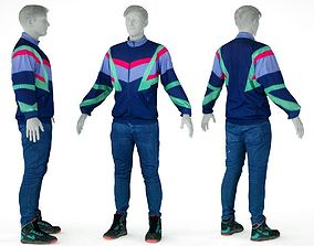 Male Casual Sports Outfit 68 Trainer 3D model game-ready
