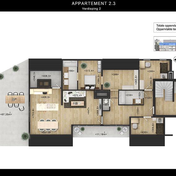 2D Floor Plan Rendering with Custom Texture Furniture in Photoshop