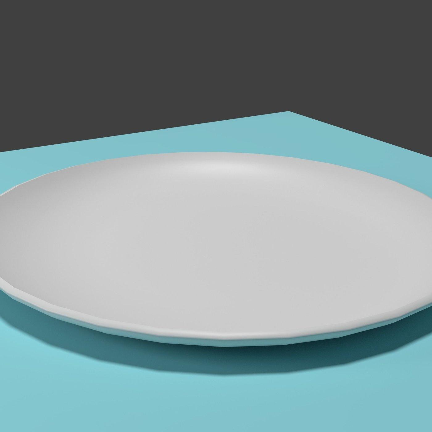 Realistic Ceramic Plate