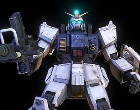 3D Gundam mobile suit MS RX 79G