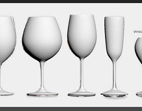 Wine Glass champagne 3D model