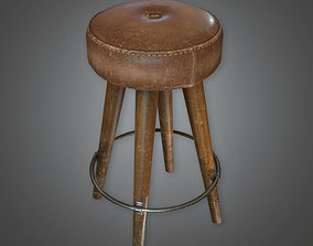 3D model Bar Stool Dive Bar - PBR Game Ready