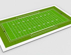 3D asset American Football Field NFL