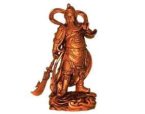 3D print model Guan gong statue