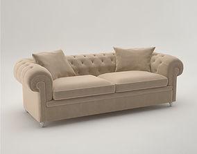 3D model Pro - Fendi Albione Sofa