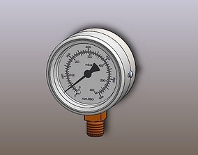 The pressure gauge 3D model