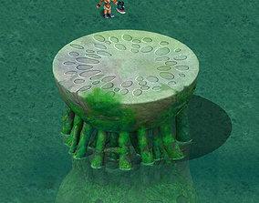 Cartoon version - pool table ganoderma 3D