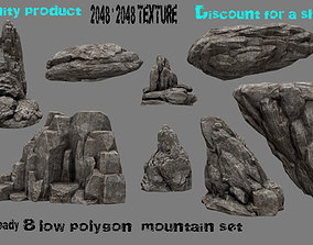 3D model realtime giveaway Rock Set