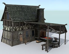 3D asset Medieval Village Blacksmith
