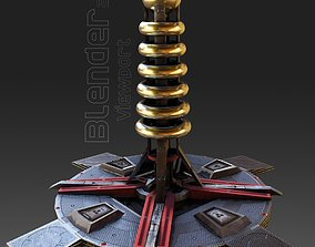 tesla coil tower - Game Ready - VR AR 3D asset