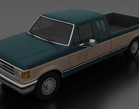 3D asset F-250 XLT Lariat Pickup SuperCab 1987-1991