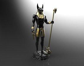 3D printable model sculpture Anubis