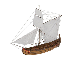 Cargo Ship 3D asset