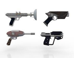3D asset Space Pistols