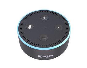 3D model animated Amazon Echo Dot