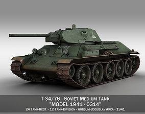 T-34-76 - Model 1941 -Soviet medium tank - 0314