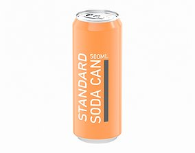 3D Soda Can 500ml