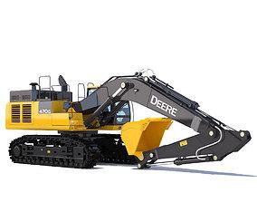 3D Excavator John Deere 470G