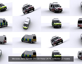 3D Mercedes Benz Sprinter 311 CDI Police UK-NL Collection