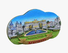 3D print model Madrid Spain Magnet Souvenir