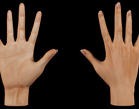 Low poly Female hand 3D asset