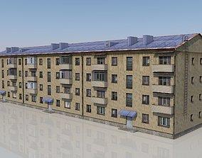 VR / AR ready Four-story house model 1-335