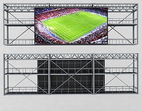 baseball 3D model Scoreboard stadium tv led screen