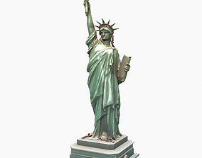 usa 3D model Statue Of The Liberty