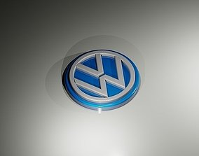 VolksWagen Cars logo 3D printable model
