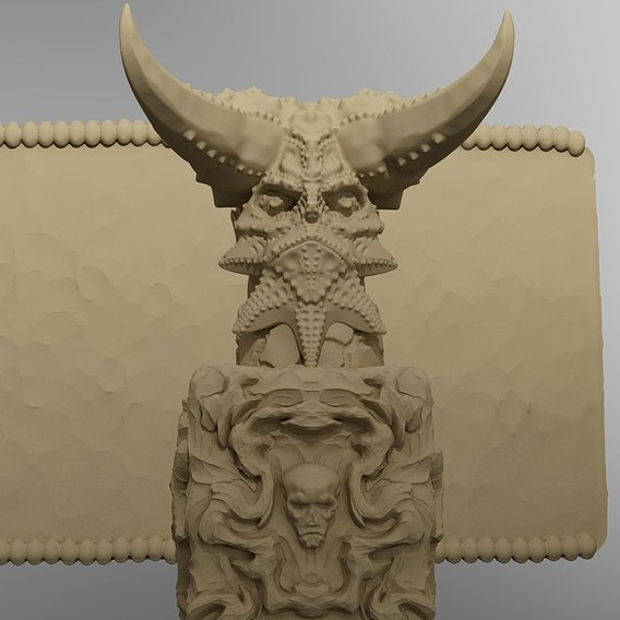 Temple of the Demon King Printable Scenery