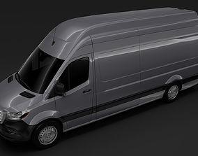3D model Freightliner Sprinter Panel Van L3H3 RWD 2019