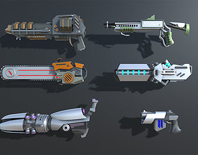 3D model Colorful Sci-Fi Weapons and Items Pack