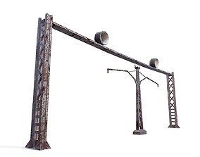Electric pillar 3D asset