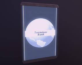 Cyberpunk Hologram Sign 3D asset