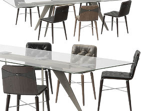 Kate chair Ramos table by Bontempi 3D model