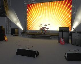 3D model Live Music Pack