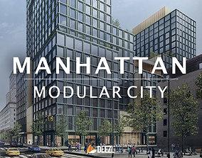 Manhattan - Modular City - Blender FBX OBJ DAE 3D model
