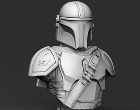 Galaxy Bounty Hunter Bust 3D printable model