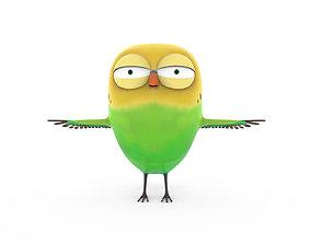 3D model Cute parrot little bird