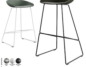 Hay - About A Stool Barstool and Counter Stool AAS 38 3D