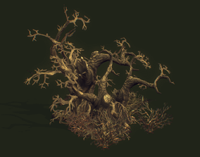 Low Poly Dead Tree Set 3D asset