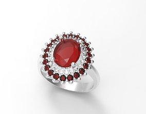 3D print model rosette ring