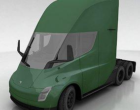 Tesla Semi 3D model game-ready
