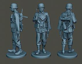 3D printable model German soldier ww2 walk G2
