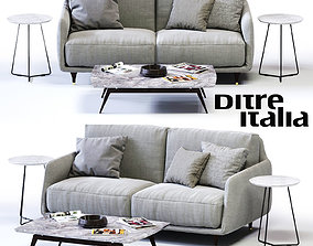 3D model Ditre Italia ELLIOT 2-er Sofa