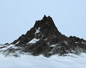 snow mountain frozen 3D asset VR / AR ready