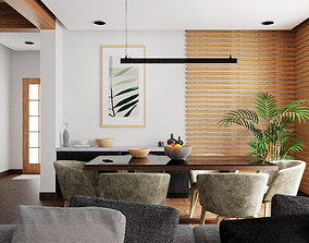 3D asset game-ready Dining Room