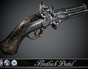 Flintlock pistol Night Quartet - model and 3D asset